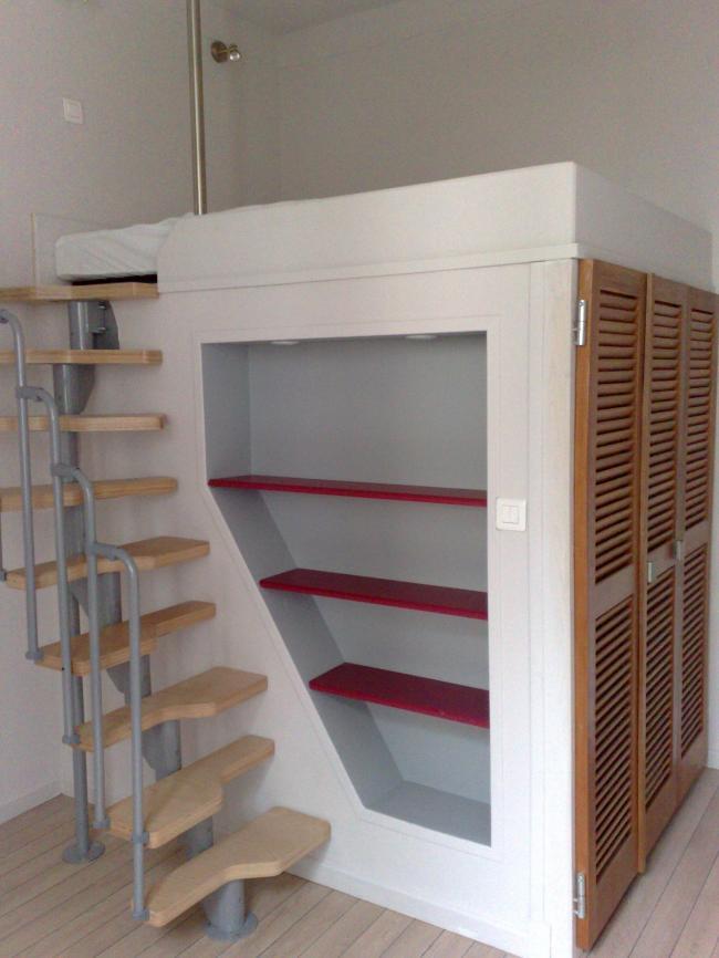 Lit 2 places en mezzanine location appartement cannes - Lit 2 places mezzanine ...